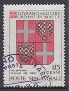 SMOM Sovereign Military Order Of Malta Mi 204 - Coats Of Arms Of The Grand Masters - Bertrand De Comps - 1982 - Malta (Orde Van)