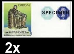 BULK:2 X GREAT BRITAIN 1974 Monument EUROPA Churchill Machines  SPECIMEN IMPERF:sheetlet [muestra,Muster,spécimen] - Grossbritannien