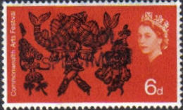 GREAT BRITAIN 1965 Art Dancing 6d OVPT:SCHOOL SPECIMEN Post Office Traing Stamps [spécimen,Muster,muestra]
