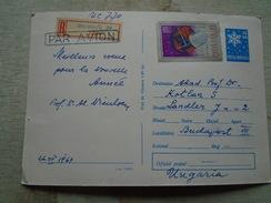 D146416 Romania  Postal Stationery  346 / 1967  Par Avion / Registered Stamp Space Signed Prof Niculescu - 1948-.... Repúblicas