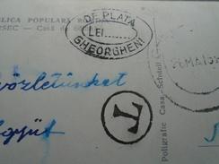 "D146420  Romania Borsec Postcard ,handstamp  ""DE PLATA  LEI.... GHEORGHENI""  - 1950's Postage Due - Impuestos"
