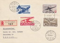 Suisse - Lettre/ 25è Anniv. Poste Aérienne - 20/09/1944 - YT PA 36/39