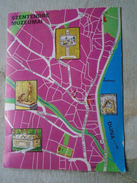 D146423  MAP CARTE  Hungary Szentendre - Museums - Duna Donau  Danube - Landkaarten