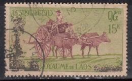15k Bullock's Cart, Bullock, Farm Animal, Cattle, Oxen, Transport, Laos Used 1960, (sample Image)