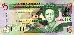 CARAIBES OUEST St KITTS  5 DOLLARS De 2003nd Pick  42d  UNC/NEUF - Caraïbes Orientales