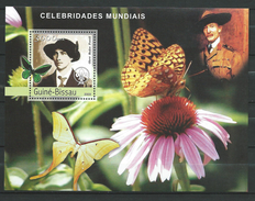 Guinea Bissau / Guinée-Bissau 2003 Famous People.Olave Baden-Powell.Explorers.Scouting,papillons,butterflies.S/S.MNH