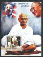 Guinea Bissau / Guinée-Bissau 2003 Famous People.Pope John Paul II.Mahatma Gandhi...S/S.MNH