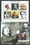 Guinea Bissau / Guinée-Bissau 2003 Nobel Prize Winners.Famous People.Sciences.Mother Teresa.2 S/S.MNH