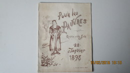 POUR LES PAUVRES / REVUE D'UN JOUR / 22 Janvier 1893 / Clouzot éditeur - NIORT - Journaux - Quotidiens