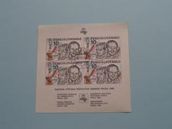 Svetova Vystava Postovych Znamok PRAGA 1988 EXPOSITION Stamps 15/11/87 ( Details, Zie Foto's Met Vergrotingen ) - Blocks & Sheetlets