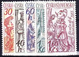 ** Tchécoslovaquie 1961 Mi 1275-9 (Yv 1156-60), (MNH)