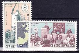 ** Tchécoslovaquie 1961 Mi 1283-5 (Yv 1162-4), (MNH)