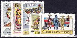 ** Tchécoslovaquie 1962 Mi 1355-9 (Yv 1230-4), (MNH)