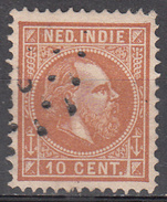 NETHERLANDS INDIES     SCOTT NO. 9     USED        YEAR  1870 - Niederländisch-Indien