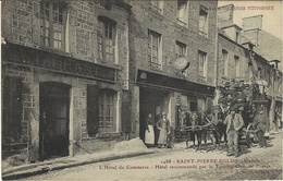 1488- SAINT-PIERRE-EGLISE - Hôtel Du Commerce- Recc. Parle T C F  - Ed L.G.B.   DILIGENCE - Saint Pierre Eglise