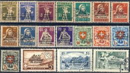 S.d.N. Bureau International Du Travail 1924-27 Serie 62-77 (18 Valori Usati, Senza Alcun Difetto) Cat. € 840 - Servizio