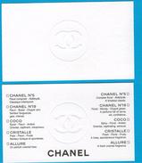 Cartes Parfumées  Carte CHANEL GAMME N°5 N°19 COCO CRISTALLE ALLURE   De CHANEL  CARTE COULEUR ÉCRU - Modernes (à Partir De 1961)