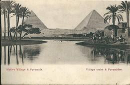 Egypte    NATIVE  VILLAGE &  PYRAMIDES - Alexandria