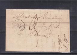 France - Lettre De 1846 - Oblitération Mussidan - Expédié Vers Libourne - Marcophilie (Lettres)