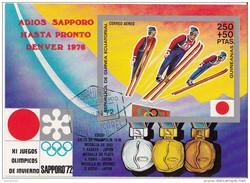 7222 Guinea Equatorial 1972 Olimpiadi Invernali SAPPORO Salto Dal Trampolino 70Mt.