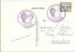 2e W.O. Kaart Naar N.A.D. Kamp Waterloo I Amersfoort April 1943