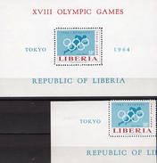 Olympia Tokyo Nippon 1964 Liberia 626+Block 31 ** 9€ Olympische Ringe Hojita Sprint Bloc Ss Olympic Sheet Bf Africa