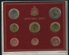 2004 VATICANO - DIVISIONALE FDC - N.° 8 Pezzi In Euro - Confezione Originale Anno XXVI - Vaticano