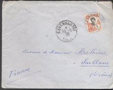 Enveloppe 1930 - Laos Vers France - Cachets Savannakhet / Saillans - Briefe U. Dokumente