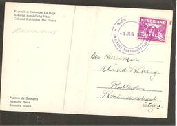 Roltanding 59 Op Kaart Den Haag Indische Tentoonstelling Sumtra Huis 1932 - Covers & Documents
