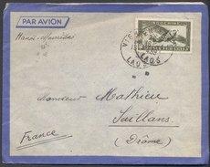 Enveloppe 1939 - Laos Vers France - Cachets Vientiane / Hanoï / Saillans - Briefe U. Dokumente