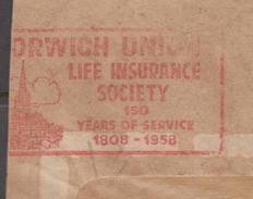 "PAKISTAN 1959 Special Boxed Slogan Postmark ""NORWICH UNION"""
