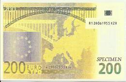 Carte Postale Specimen, Billet 200 Euros (Europe, Pont Eiffel) - Verso Non écrit - Specimen