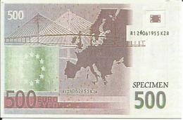 Carte Postale Specimen, Billet 500 Euros (Europe, Pont Moderne à Haubans) - Verso Non écrit - Specimen