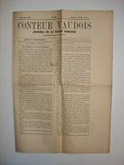 RARE. 1871. LE CONTEUR VAUDOIS. Helvetica, Suisse Romande. Lausanne, Betting. Louis Monnet. - Journaux - Quotidiens