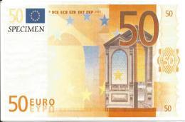 2 Cartes Postales Specimen, Billets 50 Et 20 Euros (architecture, Art Roman Et Gothique) - Verso Non écrit - Specimen
