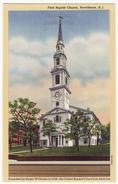 Providence Rhode Island RI, First Baptist Church C1940 Vintage Postcard - Providence