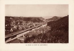 CÔTE D'ARMOR, LE LEGUE, LE PORT DE SAINT BRIEUC, Planche Densité = 200g, Format 20 X 29 Cm, (R. Muller) - Géographie