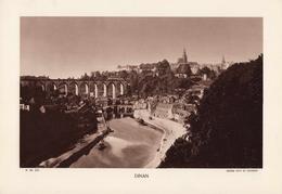 CÔTE D'ARMOR, DINAN, Le Port, Planche Densité = 200g, Format 20 X 29 Cm, (L. L.) - Géographie