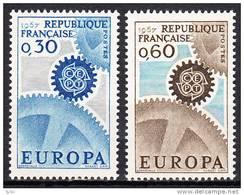 FRANCE  - 1967 - Yvert  1521 / 22 ** - Europa - France