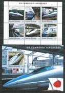 Guinea Bissau / Guinée-Bissau 2003 Japanese Fast Trains.Locomotives/Transportation/Railways/Trains. 2 S/S.MNH