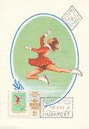 D28992 CARTE MAXIMUM CARD 1965 HUNGARY - FIGURE SKATING CP ORIGINAL