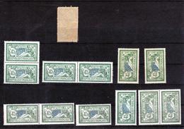 1907 - Type Merson   0.40 Fr   143    Vert Et Bleu  **