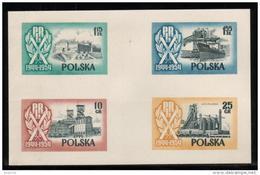 SLANIA SUMMER SALE 56 POLAND SLANIA 1954 10TH ANNIV 2ND REP FREIGHTER SOLDEK COLOUR PROOFS Ships Trains Steel Castles