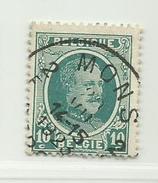 (288) Timbre Belgique Roi Albert I   N° 194 - 10c Oblitération Mons - 1922-1927 Houyoux
