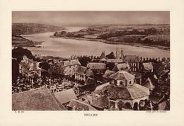 CÔTE D'ARMOR, TREGUIER, Vue Générale, Le Jaudy, Planche Densité = 200g, Format 20 X 29 Cm, (L. L.) - Géographie