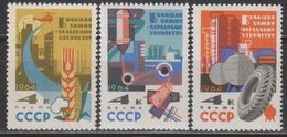 USSR 1964. 2899-2901 (2990-2992) GREAT CHEMISTRY - National Economy
