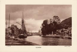 FINISTERE, QUIMPER, Le Port, L'Oder, Planche Densité = 200g, Format 20 X 29 Cm, (R. Muller) - Géographie