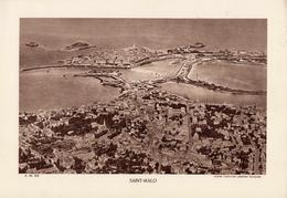 ILLE ET VILAINE, SAINT-MALO, Vue Générale, Le Port, Planche Densité = 200g, Format 20 X 29 Cm, (Cie Aérienne Française) - Géographie