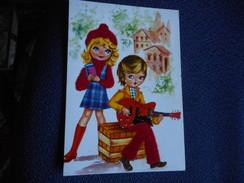 CPDM - Couple Etudiante Et Joueur De Guitare - Tissu Collé - Couples
