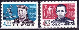 USSR 1964 .2909-2910 (3002-3003) WWII Heroes - 1923-1991 URSS